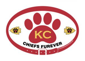 kansas city chiefs furever white decal
