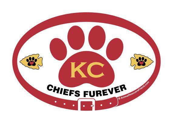 kansas city chiefs furever white decal