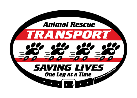 animal rescue transport saving lives one leg at a time decal